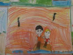 Best mates, by Charlotte, Year Two